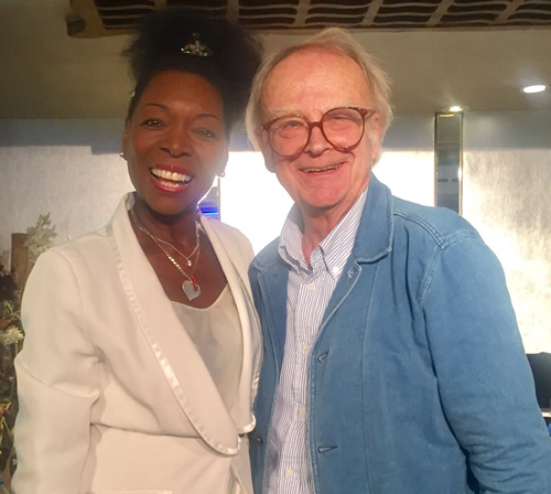 David Wood and Floella Benjamin