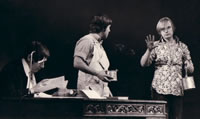 David Wood with Frank Finlay and John White in AFTER HAGGERTY (Royal Shakespeare Company, Aldwych Theatre)