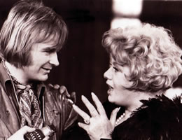 David Wood with Shelley Winters in THE VAMP (London Weekend Television)